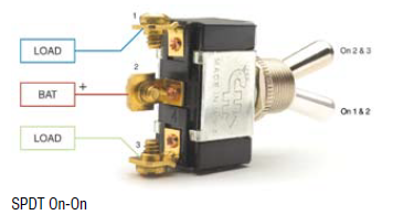 2 Way SPDT Toggle Switch