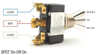 3 Way SPDT Toggle Switch